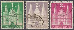 GERMANIA, OCCUPAZIONE ANGLOAMERICANA - 1948 - Lotto Composto Da 3 Valori Usati: Yvert 65/67 Di Tipo II, Come Da Immagine - Zona Anglo-Américan