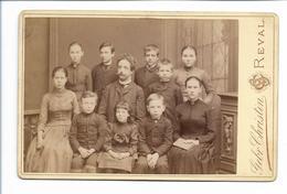 S2089/ Kabinettfoto Lehrer Mit Kinder, Foto Gebr. Christin, Reval Estland 1891 - Sin Clasificación