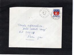 LSC 1968 - Cachet  Perlé  VANCE  (Sarthe)  Sur YT 1354B - 1961-....