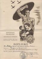 WW2 - Diplôme Du Brevet De Défense Passive. Angers (49). République Française. Ministère De L'Intérieur - Documents Historiques
