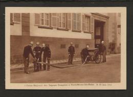 67 Niederbroonn Les Bains / L'Union Régional Des Sapeurs Pompiers Le 25 Juin 1933 ( Maneuvre Avec Un Dévidoir ) - Niederbronn Les Bains