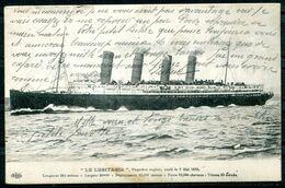 La LUSITANIA - Paquebot Anglais Coulé Le 7 Mai 1915 - Passagiersschepen