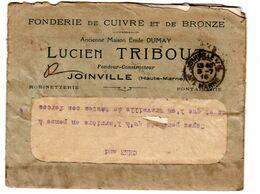Joinville Lettre Avec 2 Factures Fonderie De Cuivre Lucien Tribout - Frankrijk