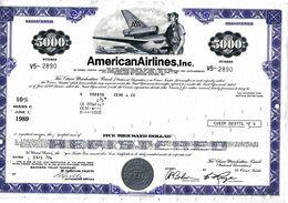 AMERICAN AIRLINES , INC.; Loan Certificate - Aviazione