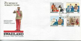 Swaziland Mi# 556-9 Used On Official FDC - Kings Birthday - Swaziland (1968-...)
