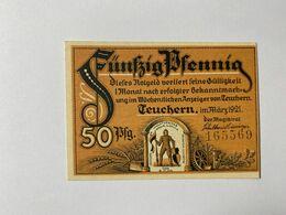 Allemagne Notgeld Teuchern 50 Pfennig - Verzamelingen