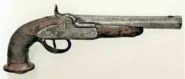 Pistolet à Percussion D'Officier, Canon à Pans. - Armas De Colección