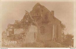 CPA -  Belgique, LEPER / YPRES, Après Le Terrible Bombardement - La Guerre 1914-18, Carte Photo - Ieper