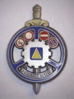 INSIGNE MILITAIRE Pommeau OR - MONITEUR (DELSART) - Army