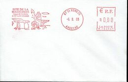 58132 France, Red Meter Freistempel, Ema, 2003 St.remeze, Site De La Madeleine,  Dolmen,  Prehistory - Prehistoria