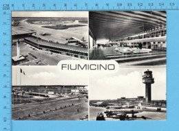 Italia Roma - RPPC  Aeroporto Leonardo Di Vinci  -  Postcard, Carte Postale - Aeródromos