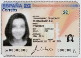 España. Spain. 2020. Efemérides. 75 Aniversario Del Decreto De Creación Del DNI - 1931-Oggi: 2. Rep. - ... Juan Carlos I
