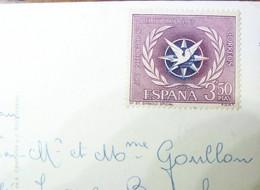 Espagne - 1967 - YT N°1461 Année Du Tourisme 3,50 Pesetas - Sur CPM - Costa Brava - Timbre Neuf - Non Oblitéré - 1931-Aujourd'hui: II. République - ....Juan Carlos I