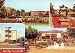 Eisenhuettenstadt, V. Wohnkomplex Diehloer Strasse Leninallee Statues Fountain - Eisenhuettenstadt