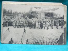 CPA CHAUNY - COMMEMORATION DU 2ème ANNIVERSAIRE DE LA DELIVRANCE (1920) LE SALUT AUX MORTS - Chauny