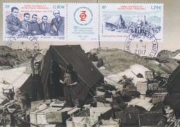 Carte  Maximum   1er  Jour   T.A.A.F   70éme  Anniversaire    Des   Expéditions   Polaires   Françaises    2017 - Briefe U. Dokumente