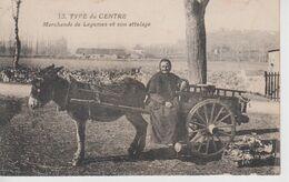 CPA Type Du Centre - Marchande De Légumes Et Son Attelage (très Belle Scène Avec âne) - Frankrijk