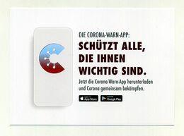Lot De 2 CP Pub Allemandes Pour Application Alerte Coronavirus Covid-19. Die Bundesregierung. Voir 3 Images - Health