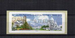 66e Salon Philatélique D'automne - Paris 2012  € 0.77 - 2010-... Illustrated Franking Labels