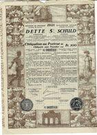 Titre Ancien -Royaume De Belgique - Dette 5% 1925 - Koninkrijk België Schuld 4% 1925 - Titre Original - Shareholdings