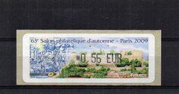 63e Salon Philatélique D'automne -Paris 2009  € 0'56 - 1999-2009 Illustrated Franking Labels