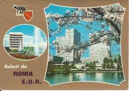 CPM Italie Lazion Saluti De Roma E.U.R - Panoramic Views