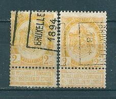 9 Voorafstempeling Op Nr 54 - BRUXELLES 1894 -  Positie A & B - Precancels