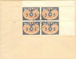MiNr.D15 4rer ER  Auf Cover 30.5.1940 Besetzg.WK II. Generalgouvernement Dienstpost - Officials