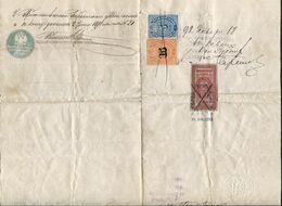 Russia 1891 Internal 1-year Passport St. Petersburg Local Revenue Stamps Fiscal Tax Reisepass Passeport Russland Russie - Steuermarken