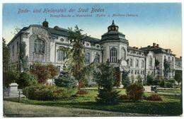 AUSTRICHE : BADE UN HEILANSTALT DER STADT BADEN / CENSOR POSTMARK - UBERPRUFT WIEN 1 / ADDRESS - FRANKFURT, SCHWANENSTR - Baden Bei Wien