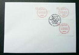Cuba UPU Congress 1984 ATM (Frama Label Stamp FDC) *rare - Cartas