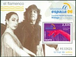 SPAIN 2006 WORLD PHILATELIC EXPO AT MALAGA S/S III, FLAMENCO** (MNH) - 1931-Hoy: 2ª República - ... Juan Carlos I