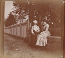 Photo Originale 1900 élégantes Au Repos Noblesse Arquennes ? Waterloo ? Bois Seigneur Isaac ? Baulers ? - Orte