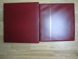 VEND ALBUM AVEC FEUILLES DE MONACO , SAFE DUAL , 1885 - 1944 , BORDEAUX + BOITIER !!! - Albums & Bindwerk