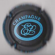 Capsule Champagne LIEBART E. ( 22 ; Noir Mat Et Bleu ) {S36-20} - Ohne Zuordnung