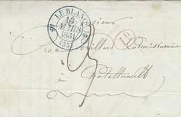 1831- Lettre De LE BLANC ( Indre ) Cad T12 BLEU  Taxe 3 D Pour Chatelllerault - SUPERBE - 1801-1848: Vorläufer XIX