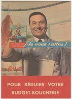 Ancien Petit Livret Publicité Recettes Boucherie / Années 60 - Reclame