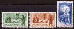 St Pierre Et Miquelon PA 1942 Yvert 1 / 3 ** TB PEIQI Bord De Feuille - Unused Stamps