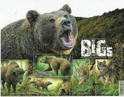 Belg. 2020 - Les Big 5 D'Europe ** (Bison, Ours, Lynx, Loup, Glouton) - Belgio