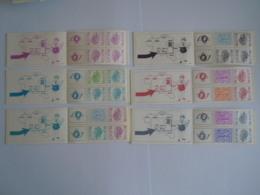 België Belgique 6 Postzegelboekje Carnet Boudewijn Baudouin Type Elstrôm B10 B11 B12 B13 B14 B15 MNH ** - Booklets 1953-....