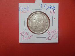 Léopold II. 2 Francs 1909 FR AVEC POINT TRES BELLE QUALITE ARGENT (A.5) - 1865-1909: Leopoldo II