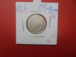 Albert 1er. 1 Franc 1910 FR ARGENT (A.5) - 07. 1 Franco