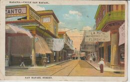 CUBA HABANA CALLE SAN RAFAEL SAN RAFAEL STREET  ETAT VERSO - Cuba