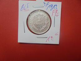 Albert 1er. 2 Francs 1912 FR ARGENT (A.5) - 1909-1934: Alberto I