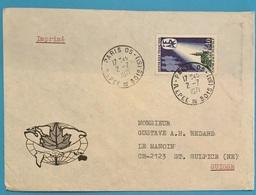 Lettre Imprimé: UFO 2-7-1971 Timbre Aide Familiale Rural 0,40 Cts Bon état - Briefe U. Dokumente