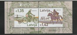 LATVIA  - LETTONIE -LETTLAND  -EUROPA CEPT - 2020 - Ancient Postal Routes - Souvenir Sheet-Block  MNH** - 2020