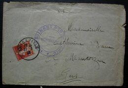 Thionville 1920 151eme Régiment D'infanterie Lettre Pour Mauvezin, Gers, Timbre Semeuse F.M Avec Correspondance - Marcofilie (Brieven)