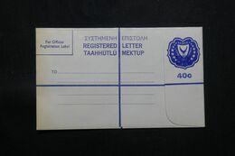 CHYPRE - Entier Postal En Recommandé De 1960 , Non Circulé - L 71288 - Cartas