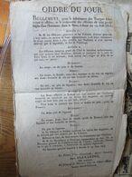 """EMPIRE: Ordre Du Jour """"subsistance Des Troupes Françaises ...dans La Saxe.. 15 Juin 1813 """" Signé Alexandre Et Monthion - Documentos Históricos"""