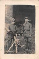 """1433 """"MITRAGLIERI ITALIANI-I GUERRA MONDIALE CON PEZZO FRANCESE S.ETIENNE MOD 1907 FOTO. ORIGINALE INIZIO SECOLO - Guerre, Militaire"""